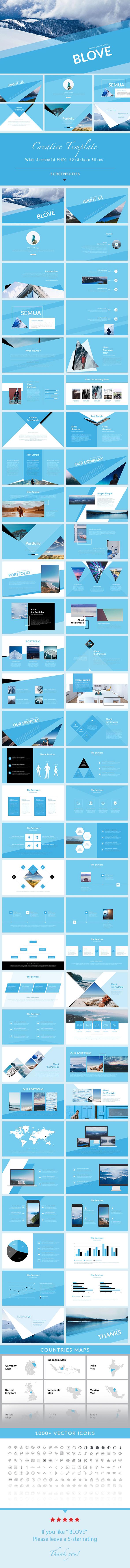 Blove - Keynote Presentation Template - Creative Keynote Templates