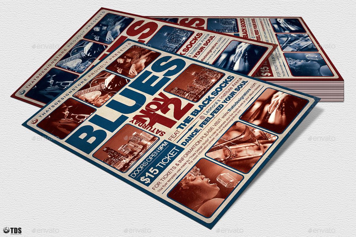 blues festival flyer template v2 by thatsdesign