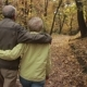Elderly Couple in Love Embracing in Autumn - VideoHive Item for Sale