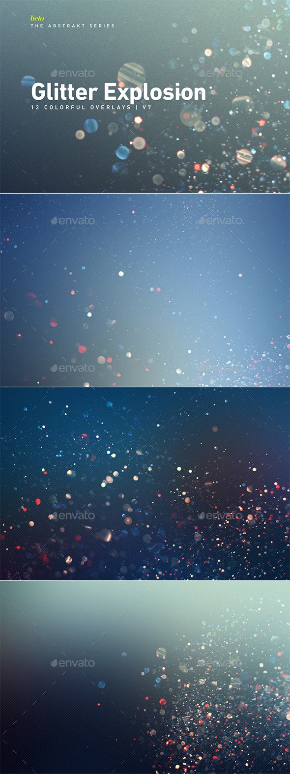 Colorful Glitter Explosion V7 - Abstract Backgrounds