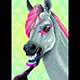 Horse is Applying Lipstick on her Lips - GraphicRiver Item for Sale