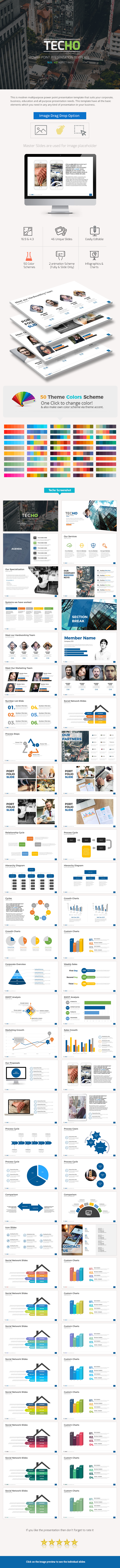 Techo Power Point Presentation - Business PowerPoint Templates