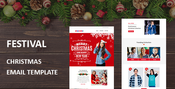 ThemeForest Festival Christmas Responsive Email Template with Stampready Builder Access 20925827