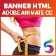 Health & Fitness Banners HTML Ads (Animate CC)