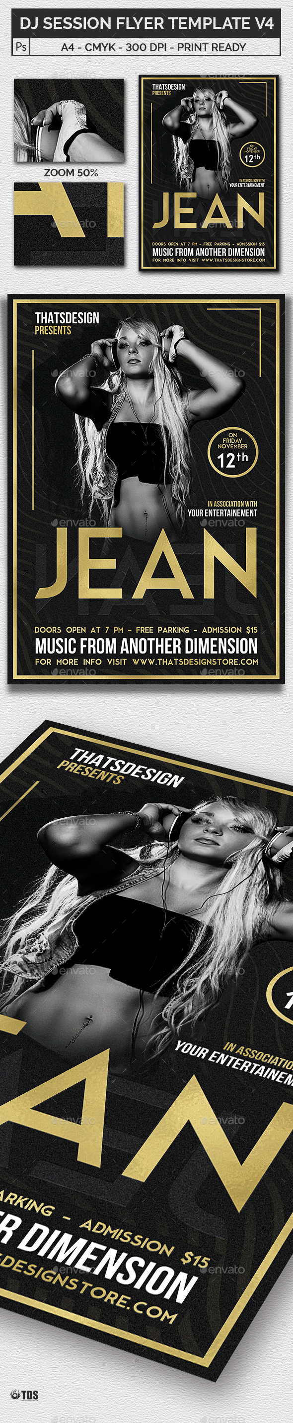 DJ Session Flyer Template V4 - Clubs & Parties Events