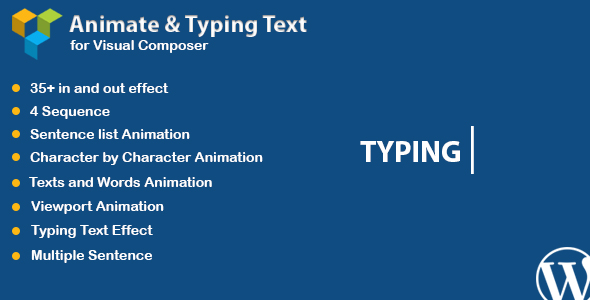 CodeCanyon Visual Composer Animated Text and Typing Effect 20925945