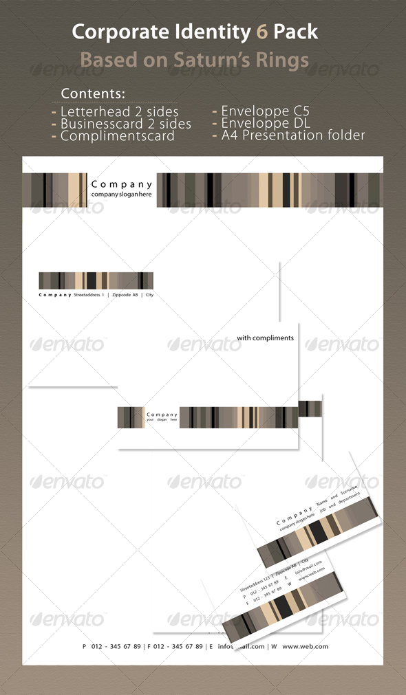 Corporate Identity 6 Pack Saturn - Stationery Print Templates