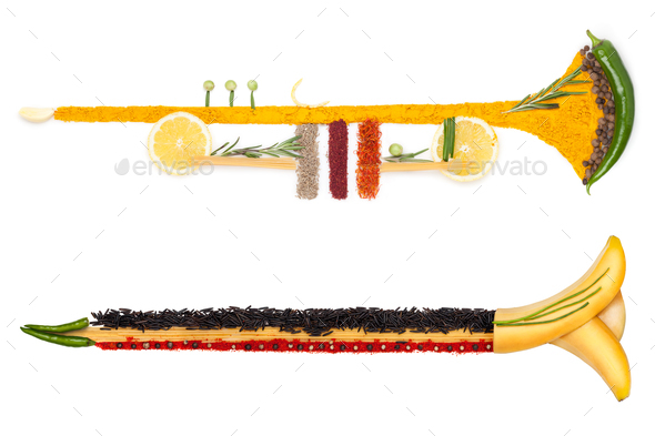 The brass of diet. - Stock Photo - Images