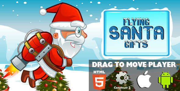 CodeCanyon Flying Santa Gifts HTML5 Game CAPX 20926011