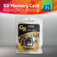 SD Memory Card Blister Pack Mockup With Card Inside