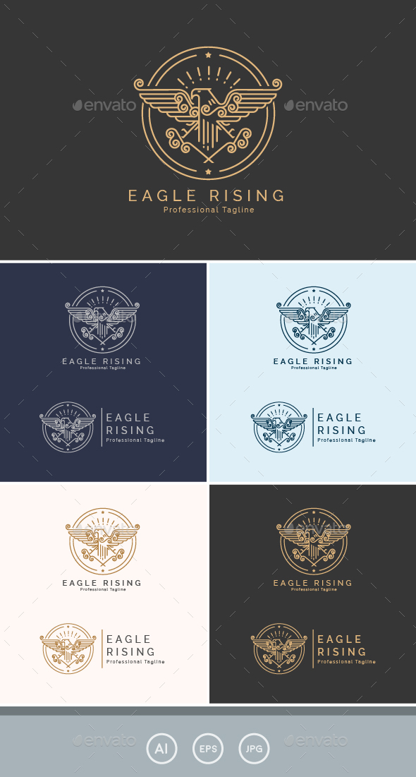 GraphicRiver Eagle Rising Logo 20926223