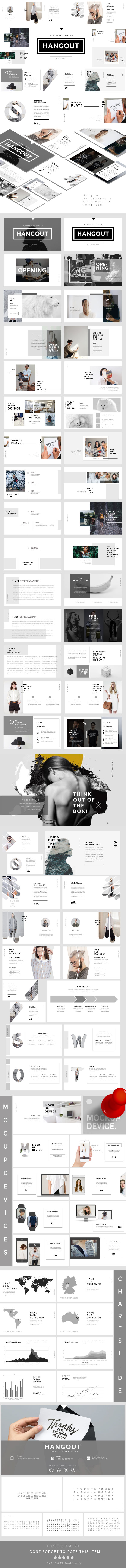 Hangout - Multipurpose Presentation Templates - Business PowerPoint Templates