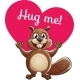 Cartoon Beaver Ready for a Hugging