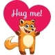 Cartoon Fox Ready for a Hugging