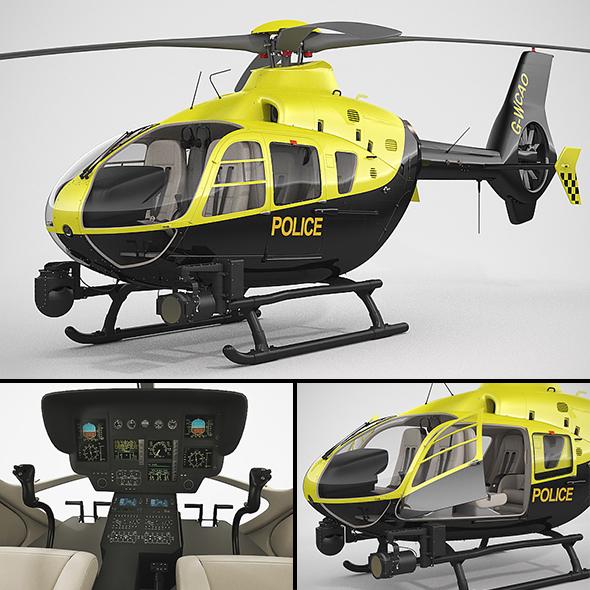3DOcean Eurocopter EC135 Police 20926461