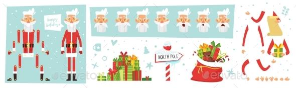 Santa Claus for Animation - Seasons/Holidays Conceptual