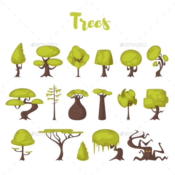 GraphicRiver Trees for Game Backgrounds 20926715