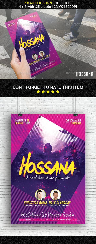 Hossana Church Flyer - Church Flyers