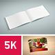 5K Set Landscape A5 Brochure Mockups