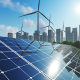 3D Solar Panels and Win turbines - VideoHive Item for Sale