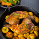 Baked chicken legs with potatos - PhotoDune Item for Sale