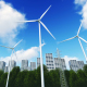 Wind Turbines and Buildings - VideoHive Item for Sale
