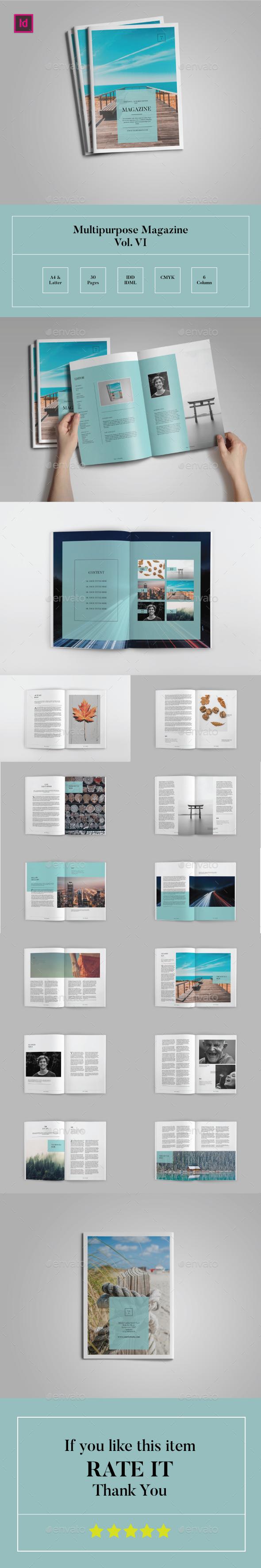 Multipurpose Magazine Template Vol.VI - Magazines Print Templates