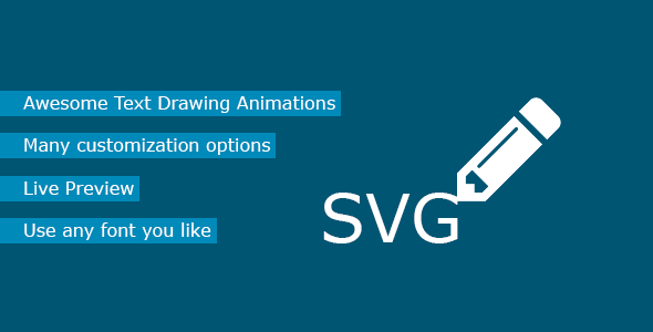 Text to SVG Animation for WordPress - CodeCanyon Item for Sale