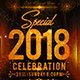 2018 New Year Flyer Template