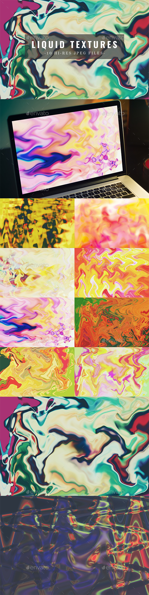 10 Abstract Liquid Backgrounds - Abstract Backgrounds