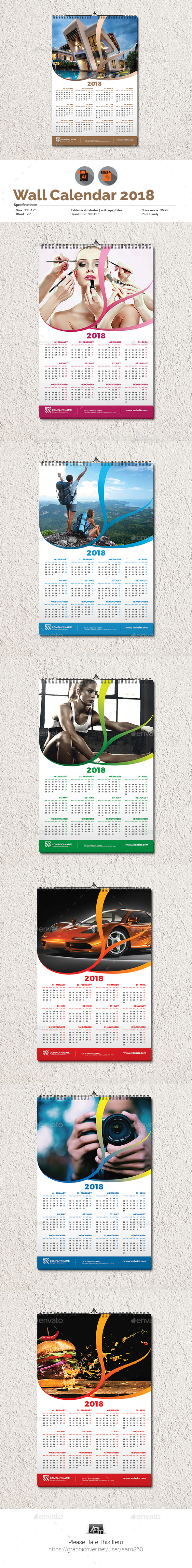 Multipurpose Wall Calendar Template - Calendars Stationery