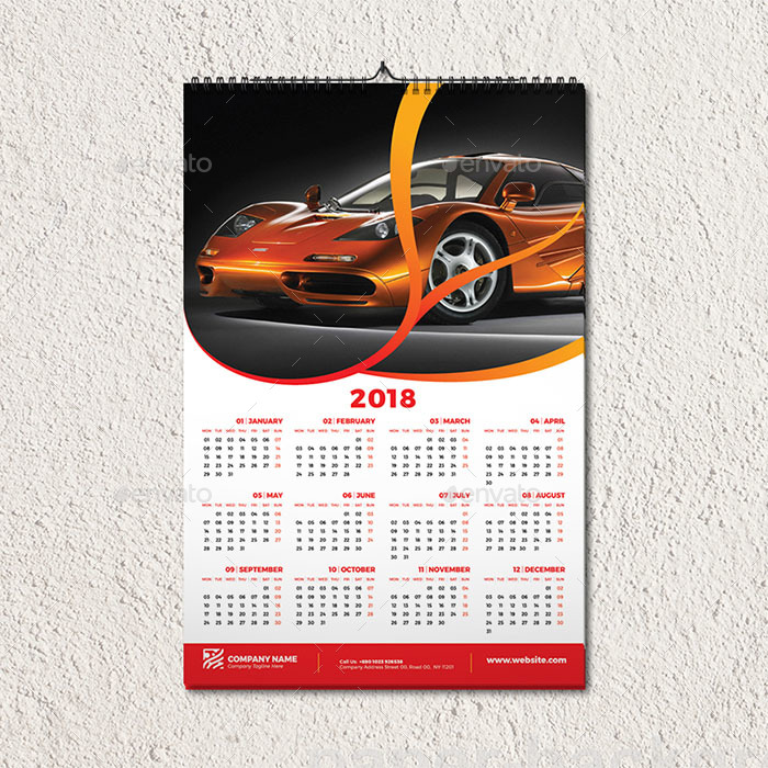 Multipurpose Wall Calendar Template By Aam360 Graphicriver