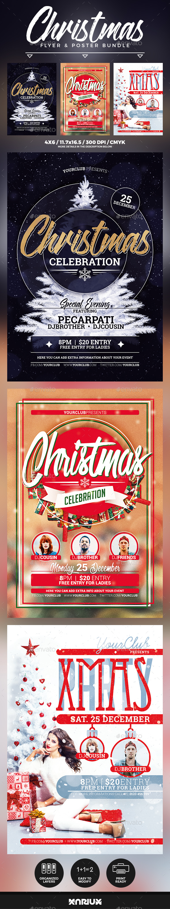 Christmas Flyer & Poster Bundle - Events Flyers