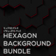Hexagon Backgrounds Bundle