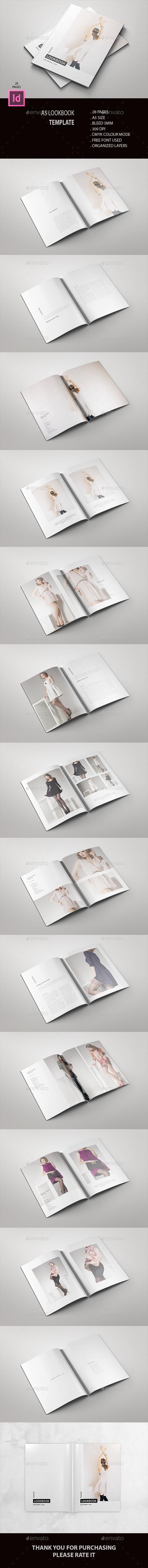 A5 Fashion Lookbook - Brochures Print Templates