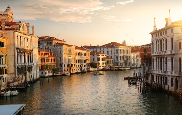 Venice at the dawn - Stock Photo - Images