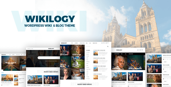 Image of Wikilogy - Wiki & Blog WordPress Theme
