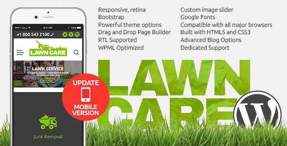 Image of Lawn Care services - WordPress website theme