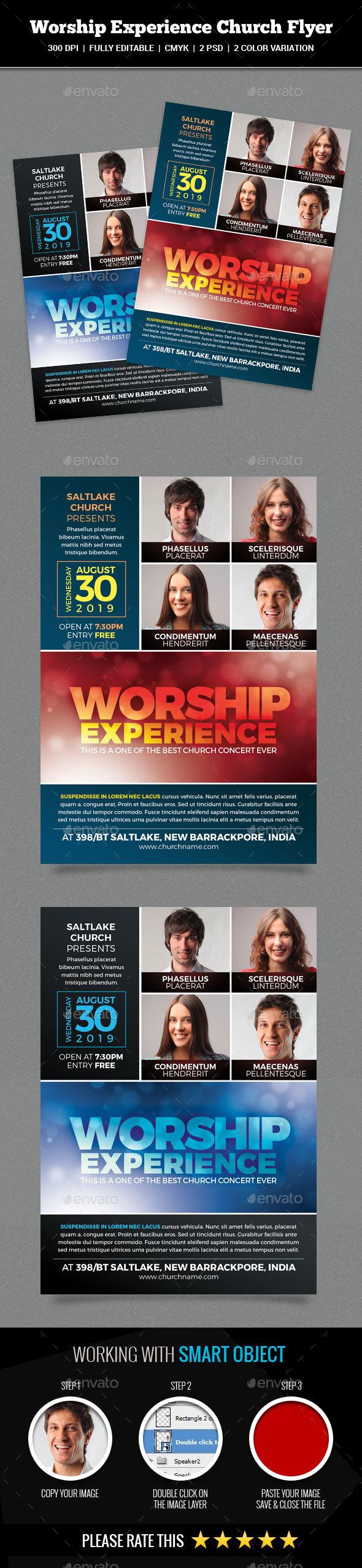 Worship Experience Church Flyer - Church Flyers