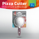 Pizza Cutter Wheel Blister Pack Mockup With Cutter Inside