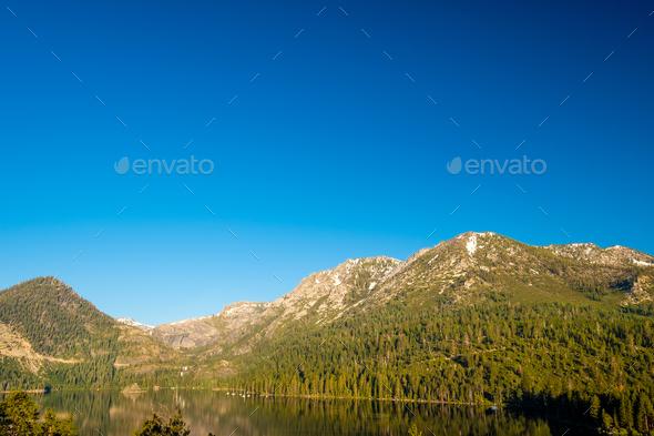 Lake Tahoe landscape - California, USA - Stock Photo - Images