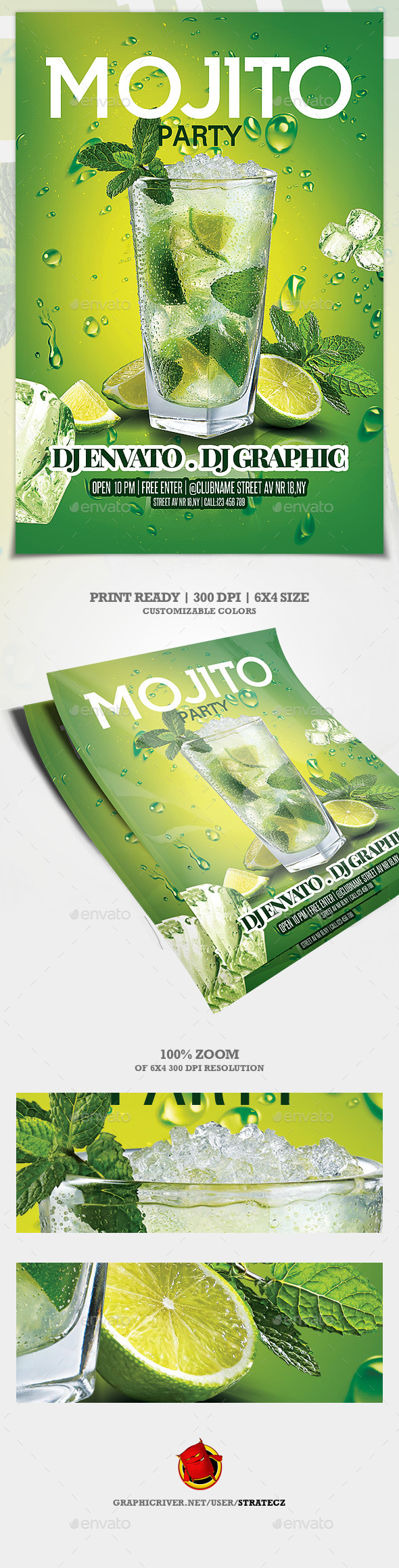 Mojito Night Flyer - Events Flyers