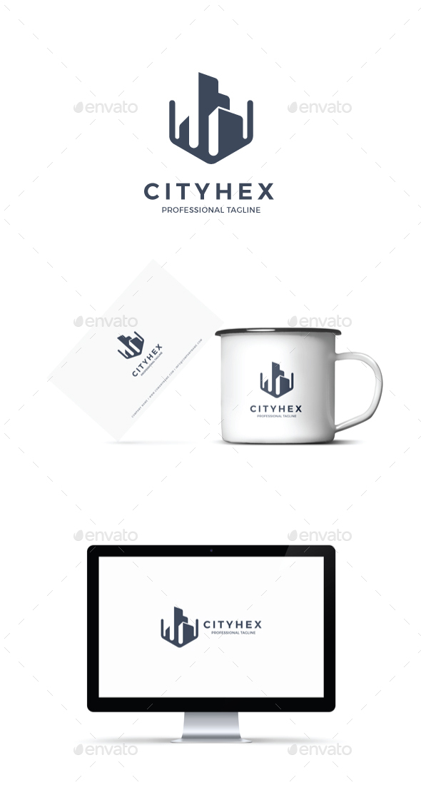 GraphicRiver City Hex Logo 20929271