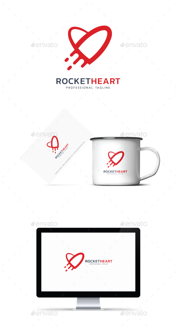 GraphicRiver Rocket Heart Logo 20929282
