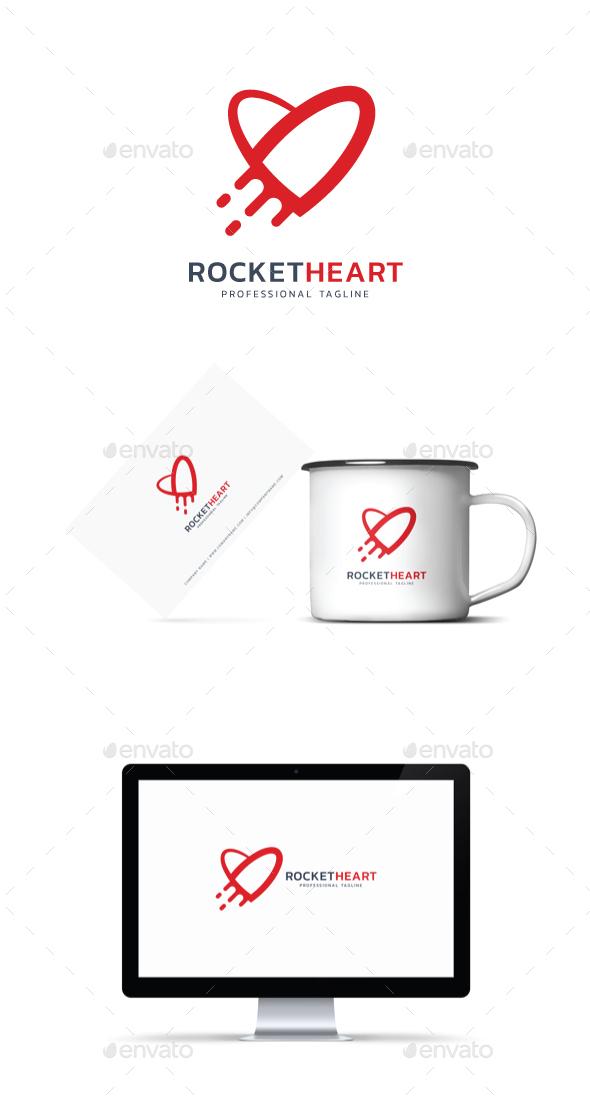 GraphicRiver Rocket Heart Logo 20929282