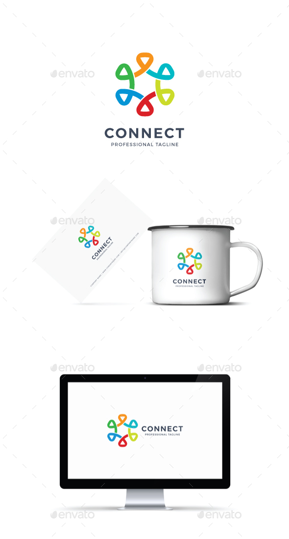 GraphicRiver Connect Logo 20929284