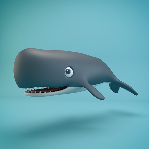 3DOcean Cartoon Whale 20929560