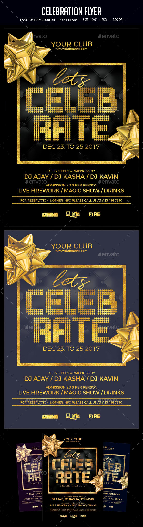 Celebration Flyer - Clubs & Parties Events