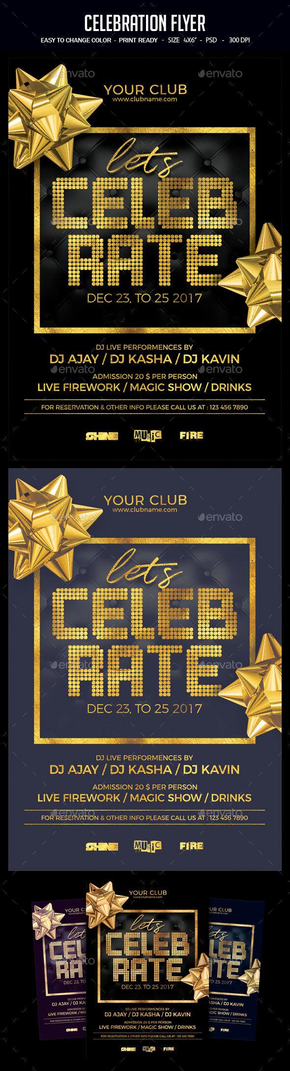 Celebration Flyer - Clubs & Parties Events