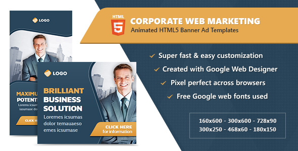 HTML5 Banner Ad Templates - Corporate Web Marketing - CodeCanyon Item for Sale